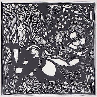 Raoul DUFY : L'amour - Gravure sur bois originale signée