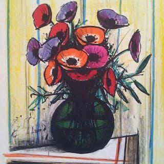 Bernard BUFFET: Les Anémones, 1972 - Lithographie ORIGINALE signée