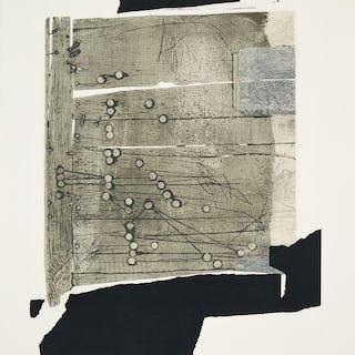 Antoni CLAVE - Xinxetes sobre fusta, 1989, Gravure originale, Signée