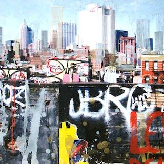 Gottfried Salzmann, New York, le Rêve, 2014, Gravure originale sur