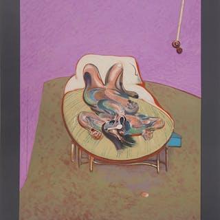 Francis BACON (d'après) : Nu couché - Lithographie, 1966