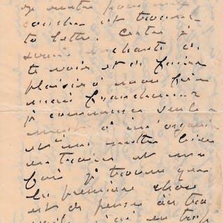 Claude MONET - Lettre autographe signée à son épouse