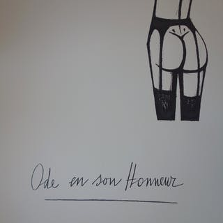 Bernard BUFFET - Ode en son Honneur - Lithographie originale sur vélin - 1970