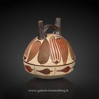 Vase peint de légumes