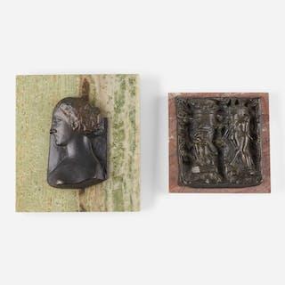 Pillars of Ialysos; Portrait Head (two works)