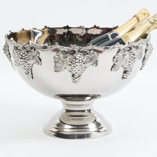 Gorgeous Silver Plated Monteith Punch Bowl
