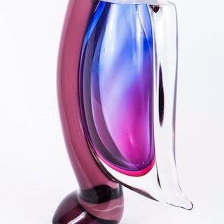 Beautiful Purple Venetian Glass Vase