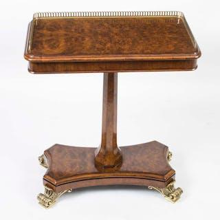 Bespoke Regency Style Burr Walnut Occasional Side End Table