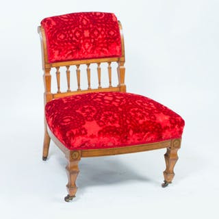 Antique Victorian Satinwood Nursing Chair c.1880