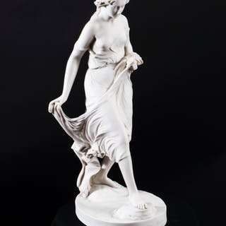 A Marble Sculpture of a Classical Figure