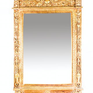 Vintage Stunning Large Ornate Italian Gilded Mirror 141 x 94 cm