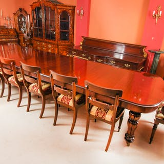 Bespoke Huge Handmade 20ft Dining Table & 20 chairs 21st Century