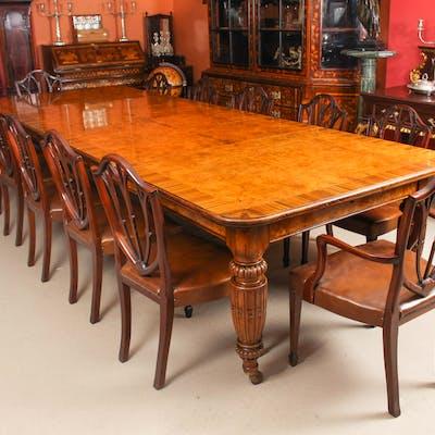 Antique Pollard Oak Victorian Extending Dining Table 12