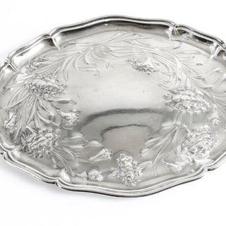 Antique Silver Plated Art Nouveau Dressing Table Tray C1890 19th C