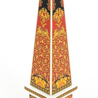 Striking Rosenthal Porcelain Versace Medusa Obelisk 20th Century