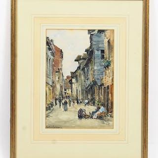 Antique Watercolour by Jules Lessore Circa 1880 19th Century