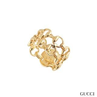 Gucci Yellow Gold Horsebit Ring
