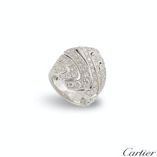Cartier White Gold Diamond Dress Ring 2.47ct F+/VS+