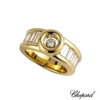 Chopard 18k Yellow Gold Happy Diamond Ring 82/2211-0105