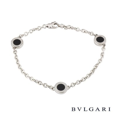 Bvlgari Bvlgari White Gold and Onyx Bracelet