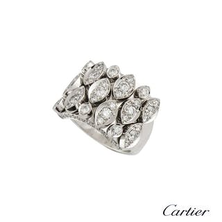 Cartier 18k White Gold Diamond Ring 2.28ct