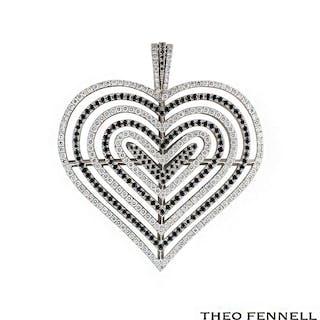 Theo Fennell 18k White Gold Diamond Pendant 2.62ct G/VS