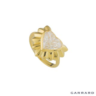 Garrard Yellow Gold Heart Diamond Ring 2.68ct G/SI2