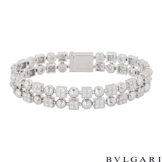 Bvlgari White Gold Diamond Lucea Bracelet
