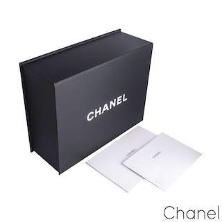 Chanel White Python Large Boy Bag
