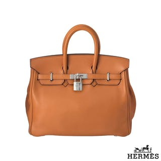 Hermes Birkin 25 cm in orange Swift leather