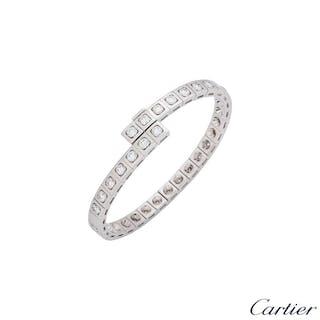 Cartier Tectonique Diamond White Gold Bracelet 3.15ct