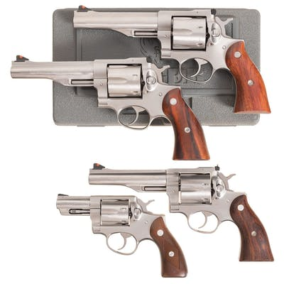 Four Ruger Double Action Revolvers