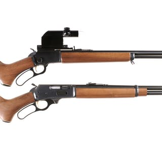 Two Marlin Lever Action Long Guns