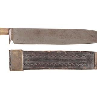 Vintage Hibbard Spencer Bartlett & Co. Knife with Sheath