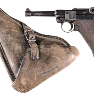 """Pre-War Nazi Mauser """"S/42"""" Code Luger Pistol with Holster"""