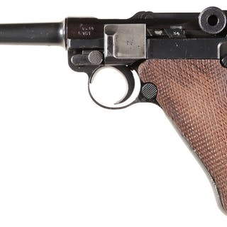 """Mauser """"S/42"""" Code Luger Semi-Automatic Pistol with Holster"""