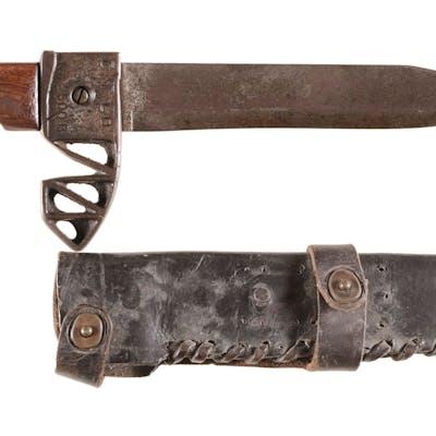 """""""C.T.Co"""" Marked Bowie Knife w/Scabbard"""