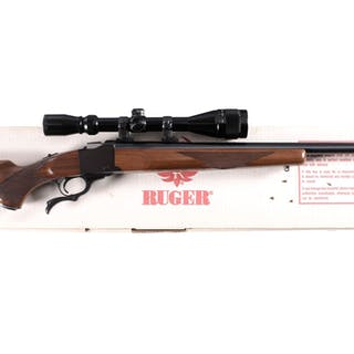 Ruger No. 1 Single Shot Rifle with Scope and Box
