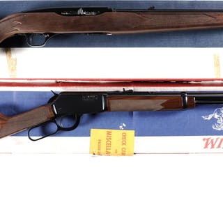 Two Winchester Rifles with Boxes