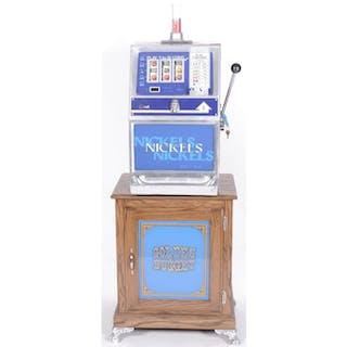 Nickel Slot Machine with Golden Nugget Stand