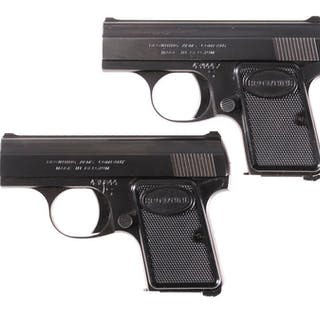 Two Browning Baby Semi-Automatic Pistols