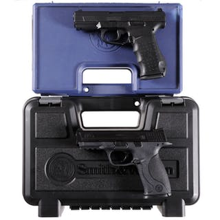 Two Smith & Wesson Semi-Automatic Pistols with Cases