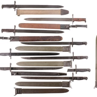 Assorted 1903 and 1917 Pattern U.S. Bayonets and Accessories