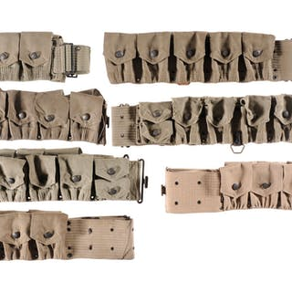 Group of Assorted Military Web Belts