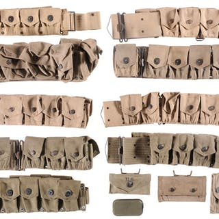 Group of Early 20th Century U.S. Web Belts