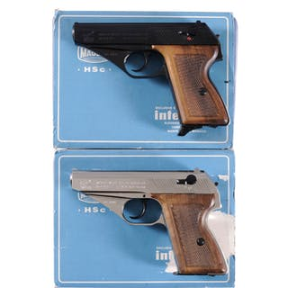 Two Mauser/Interarms HSc Pistols w/Matching Boxes
