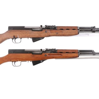 Two SKS Semi-Automatic Carbines with Bayonets