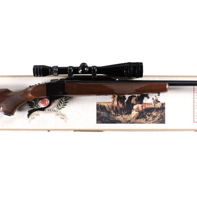Ruger No. 1 Single Shot Falling Block Rifle with Scope and Box