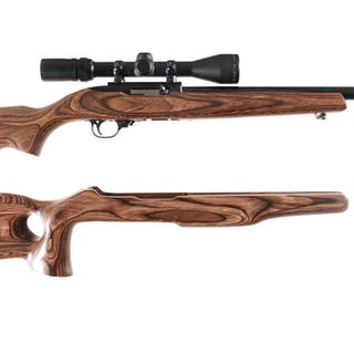 Ruger 10/22 Semi-Automatic Rifle with Scope and Case