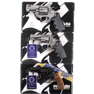 Three Boxed Rossi Double Action Revolvers